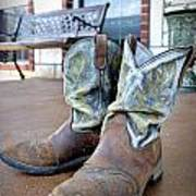 Texan Cowboy Boots Poster
