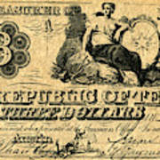 Texas Banknote, 1841 Poster