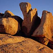 Texas Canyon Golden Boulders Poster