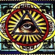 Eye Of Providence Texas Church Window Poster