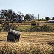 Texas Ranch Scene Poster