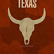 Texas State Facts Minimalist Movie Poster Art  Poster