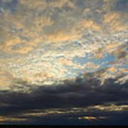 Texas Storm Cloud Sunset Poster