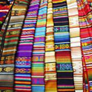 Textile Market Otavalo Ecuador Poster