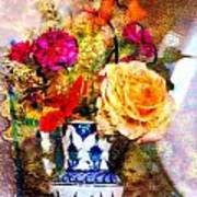 Textured Bouquet Poster