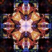 Textured Geometric Mandala Poster