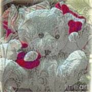 Textured Teddy Poster