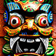 Thai Buddhist Mask Poster