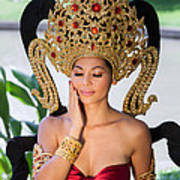 Thai Woman In Traditional Dress Poster