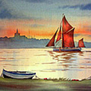 Thames Barge At Maldon Essex Poster