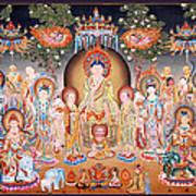 Buddha Art Thangka Poster