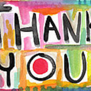 Thank You Card- Watercolor Greeting Card Poster