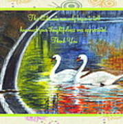 Thank You Sentiments-swans Poster