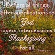 Thanksgiving 1 Timothy 2 Poster