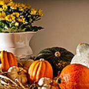 Thanksgiving Still Life Poster