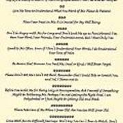 The 10 Commandments For Pets On Old Parchment Poster