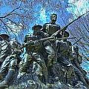 The 107th Infantry Memorial Sculpture Poster