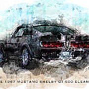The 1967 Shelby Gt-500 Eleanor Poster