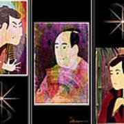 The Actors Sawamura-otani Oniji And Ichikawa Yaozo Poster