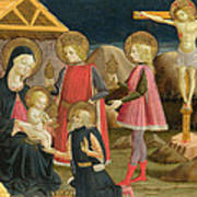 The Adoration Of The Kings And Christ On The Cross Poster