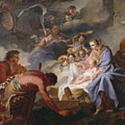 The Adoration Of The Shepherds Poster