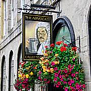 The Advocate Pub Poster