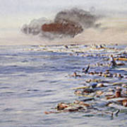 The Aftermath Of The Lusitania Poster
