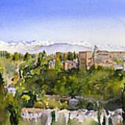 The Alhambra Granada Poster