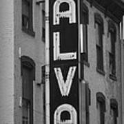 The Alva - Black And White Poster