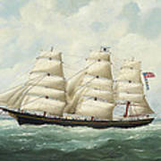 The American Ship Olive S Southard Of San Francisco In French Waters Off Le Havre Poster
