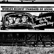 The American Way - Standard Of Living Poster