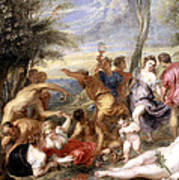 The Andrians A Free Copy After Titian Poster