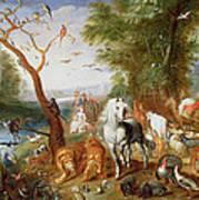 The Animals Entering Noahs Ark Panel Poster