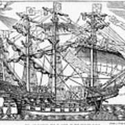The Ark Raleigh The Flagship Of The English Fleet From Leisure Hour Poster