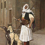 The Arnaut With Two Whippets Poster
