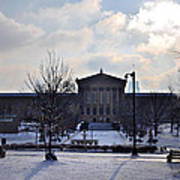 The Art Museum In The Snow Poster by Bill Cannon