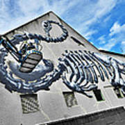 The Artist Roa At Work  Poster