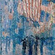 The Avenue In The Rain Poster