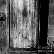 The Back Door Bw Poster