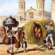 The Baker And The Straw Seller, 1840 Poster