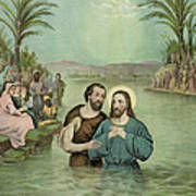 The Baptism Of Jesus Christ Circa 1893 Poster by Aged Pixel