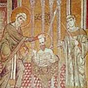 The Baptism Of St. Paul By Ananias, From Scenes From The Life Of St. Paul Mosaic Poster