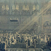 The Baptism Of The King Of Rome 1811-32 At Notre-dame, 10th June 1811, After 1811 Engraving Poster