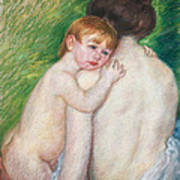 The Bare Back Poster by Mary Cassatt Stevenson