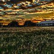 The Barn At Sunset Poster