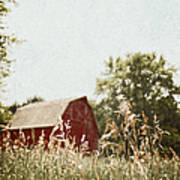 The Barn In The Distance Poster