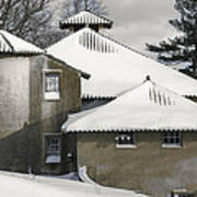 The Barns At Castle Hill After The Snow Poster
