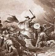The Battle Of Hastings, Engraved Poster