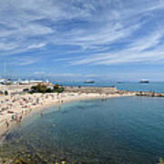 The Beach At Cap D' Antibes Poster