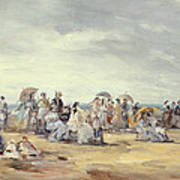 The Beach At Trouville, 1873 Poster
